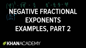 negative fractional exponent examples
