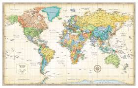 rand mcnally classic edition world map poster rmc classic world fullsize 2016