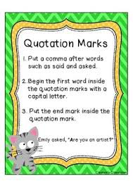 Quotation Marks Anchor Chart Quotation Marks Anchor Chart Free
