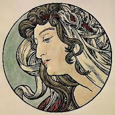 Plakat für Victoria-Fahrräder - <b>Fritz Rehm</b> als Kunstdruck oder handgemaltes <b>...</b> - thm_head_of_a_woman