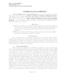 Template Lease Commercial Property Rental Agreement Template Building