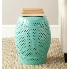 patio stool: diamond robinamps egg blue ceramic patio stool