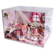inexpensive dollhouse furniture. wholesalehome decoration crafts diy doll house wooden houses miniature dollhouse furniture kit room led lights gift v005 inexpensive wood o