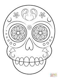 sugar skull simple easy coloring pages printable and coloring book to print for free find more coloring pages for kids and s of sugar skull