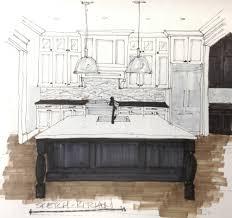 pendant lighting over island. Kitchen Remodel Design Concept -\u0026nbsp;Design Sketch - Carla Aston #pendantlighting #kitchenlighting Pendant Lighting Over Island