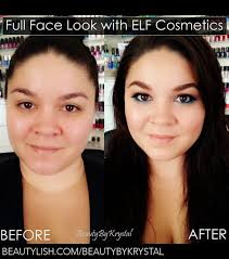 here is a before and after photo for a bronzed and glowing look i created using all elf cosmetics s check out my post for the full list of