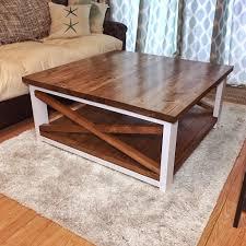 mesmerizing large 40x40 square x design farmhouse coffee table wood nail pertaining to square farmhouse coffee