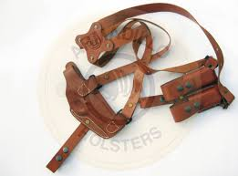 picture of tan leather horizontal shoulder holster for 1911
