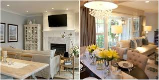Combined Living Room And Dining Room Home Interior Design