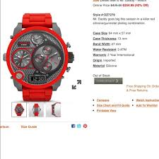 Diesel Watch Size Chart Bedowntowndaytona Com