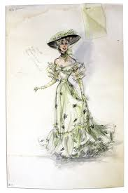 Edith Head Design Sketches Lot Detail Edith Head Costume Sketch From Her Zenith As A