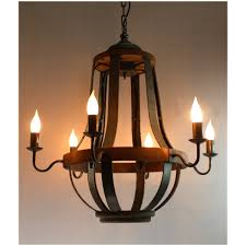 wooden chandelier wood candle iron strap and aged wood chandelier french country vintage model 66
