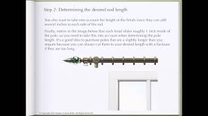 how to determine curtain rod length