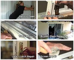 sliding glass door wheel repair service