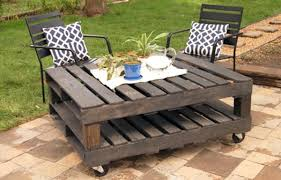 pallets into furniture. Garden Table With Casters Europaletten - DIY Furniture From Euro Pallets 101 Craft Ideas For Wood Into