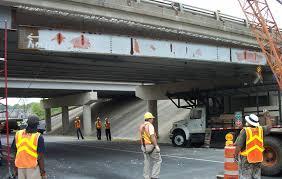 replacing beams on i430 bridge over col glenn