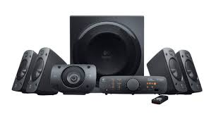 sound system with subwoofer. logitech z906 surround sound speakers system with subwoofer