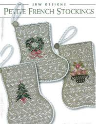 French Cross Stitch Charts Petite French Stockings Cross Stitch Chart