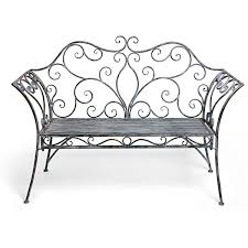 Black Ornate Iron Bench 470 CAD ❤ Liked On Polyvore Featuring Garden Metal Bench