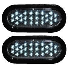 6 Oval White Led Lights 2 Clear White Led Oval Trailer Truck Reverse Back Up Fog