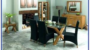 table and leather chairs black leather chairs for dining table round glass table leather chairs