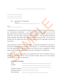 Hoa Letter Samples Forms And Templates Hoa Member Services