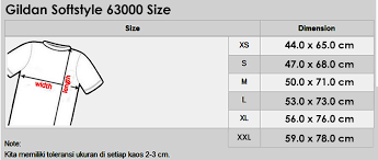 Gildan Boxer Brief Size Chart Gildan Softstyle Size Chart Cm Buurtsite Net