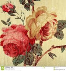 Het Uitstekende Behang Met Rood Nam Bloemen Victorian Patroon Toe