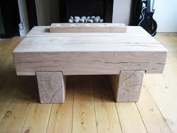 chunky wood coffee tables