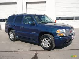 2005 Blue Green Crystal GMC Yukon Denali AWD #25631771 | GTCarLot ...