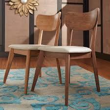 penelope danish modern tapered leg dining chair set of 2 inspire q modern
