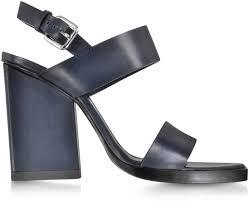 jil sander navy blue leather sandal