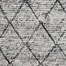 cross diamond rug grey