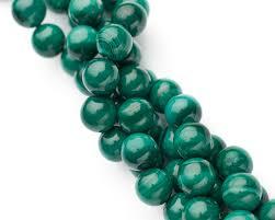 Бусина Натуральный <b>Малахит</b>, <b>8 мм</b>, Круглая, Зеленая, купить ...