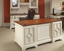 home office desk white. Fine Home Distressed White 66 Inch Executive Home Office Desk For W