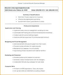 Resume Template Functional Functional Format Resume Templates Cv ...