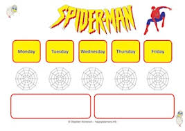 5 Day Reward Chart Spiderman Reward Systems