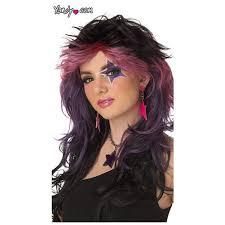 womens makeup photo 3 rocker wig gem wig jem wig 80s rockstar wig