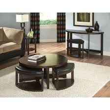 glass coffee table with stools underneath lovely round coffee table with stools underneath with glass coffee