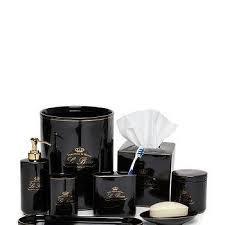 Black And White Bathroom Accessories Coastal Stripe BlackWhite