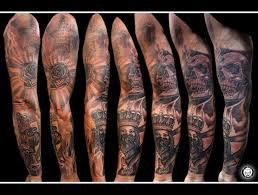 Full Sleeve Tattoo Bitlypitbulltattoothailand Pitbull Tattoo