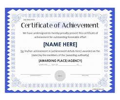 Certificate Of Achievement Template Doc Download Editable