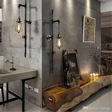 iron pipe lights vintage loft industrial water pipe lamp retro iron water pipe bulb pendant lights