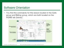 Managing WorksheetsManaging Worksheets Lesson 8 © 2014, John Wiley ...