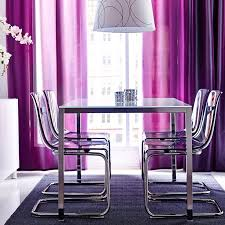 ikea furniture colors. color coordinated dining rooms ikea table with white glass top and chromeplated legs chairs in lilac leg frame ikea furniture colors