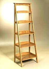 folding display shelves ladder shelf wooden