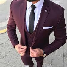 New Suit Design 2019 Man Latest Coat Pant Designs Wine Red Business Men Suit 2019