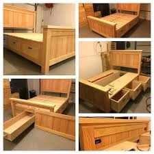 how to build a single bed frame full size of storage wood bed frame with storage