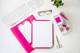 pink office desk. Free Stock Photos For Blogs - Hot Pink Office Desk 13