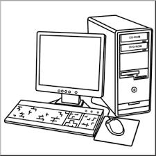 Computer Clip Art Clip Art Computer Desktop B W I Abcteach Com Abcteach